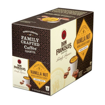 Don Francisco's Single Serve Coffee Pods, Vanilla Nut Flavored, Compatible with Keurig K-cup Brewers, 24 Count [Vanilla Nut 24 ct.]