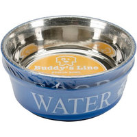 Kreinik Food & Water Set Large 2Qt-Blue