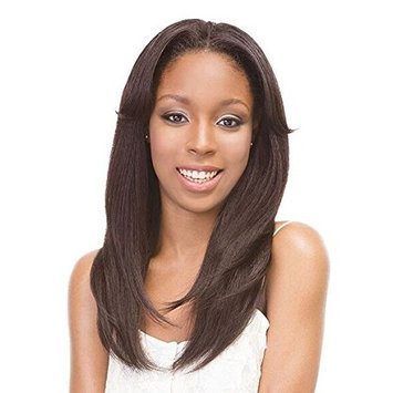 Janet Collection Retro Glam & Vibe Clip-In U-TYPE Wig - 1B STRAIGHT (1B Off Black)