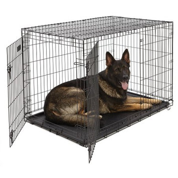 Mid-west Homes For Pets MidWest iCrate Folding Double Door Dog Crate, Size: X Large 48L x 30W x 33H inches