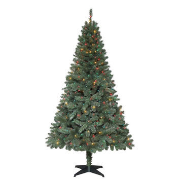 6.5 ft. Pre-Lit Verde Spruce Artificial Christmas Tree with 400 Multi-Color Lights COPT750400MT