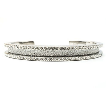 Hair Tie Bracelet - Elegance by Maria Shireen - Steel Silver - Medium