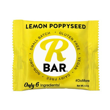 RBar Energy Lemon Poppyseed, 10 Bars 6 Ingredients