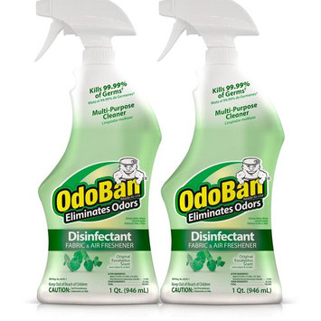 OdoBan 32 oz. Ready-To-Use Eucalyptus Disinfectant Fabric and Air Freshener Mold, Mildew Control Multi-Purpose Spray (2-Pack)