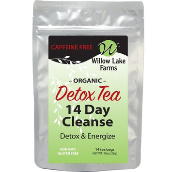 Detox Tea for Body Cleanse Weight Loss Bloating Relief and Belly Fat for Women. Organic Diet Flat Fit Tummy Slimming Teatox Drink Decaffeinated 14 Day - Mint