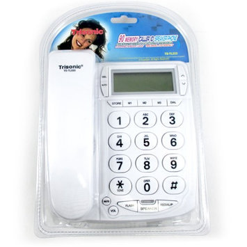 Atb Large Number Phone Big Button Speaker Telephone Line Caller ID Display Office!
