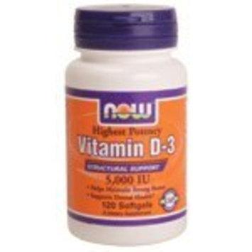 NOW Vitamin D-3 5,000 IU,240 Softgels [1]