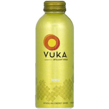 Vuka Energy Drinks Vuka Renew Mango Peach Energy Drink, 16 fl oz, (Pack of 12)