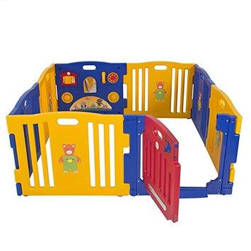 Kidzone Baby Playpen Kids 8 Panel Safety Play Center Yard Home Indoor Outdoor Pen