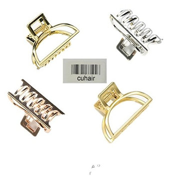 cuhair 3pcs About 4cm Simple Metal Alloy Punk Vintage Hair Clip Hair Claw Accessories For Women Girl