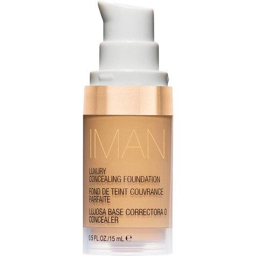 IMAN Cosmetics Luxury Concealing Foundation, Medium Skin, Sand 4, 0.5 Oz