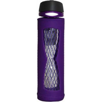 Gourmet Home Products 20 Oz Glass Hyper Bottle with Silicone Sleeve