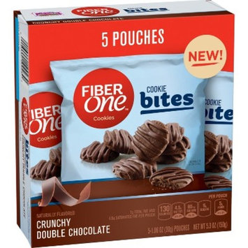 Fiber One Naturally Flavored Crunchy Double Chocolate Cookie Bites - 5.3oz