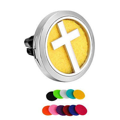 Car Vent Clips Jesus Cross Aromatherapy Perfume Essential Oil Diffuser