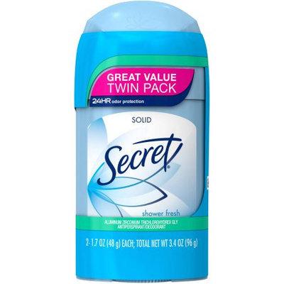 Secret Wide Solid Powder Fresh - Twin Pack