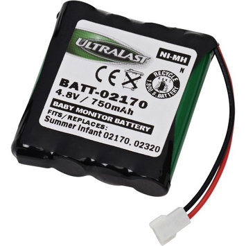 Ultralast Replacement Baby Monitor Battery 4.8 Volt Nickel Metal Hydride Replacement Baby Monitor Battery for Summer Infant 02170