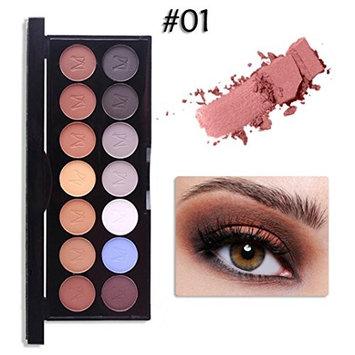 14 Color EyeShadow Powder,YOYORI Long Lasting and Waterproof New Makeup Eyeshadow Brow Powder Cosmetics for Professional Makeup or Daily Use