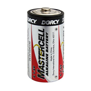 Dorcy 41-1629 Mastercell Long-Lasting C-Cell Alkaline Manganese Battery, 4-Pack