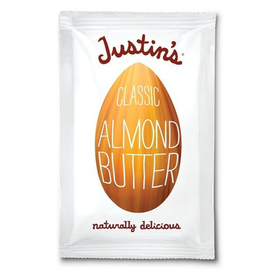 Justin's Nut Butter Natural Classic Almond Butter 10 Count Squeeze Packs, 11.5-Ounce Boxes (Pack of 4)
