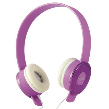 Cliptec Purple Candy Muisc Stereo 3.5mm Wired Volume Control Headset Earphone On Ear Headphone w/Mic
