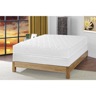Signature Sleep Gold Select 8 Inch Reversible Coil Mattress with CertiPUR-US certified foam & Foundation: Twin White