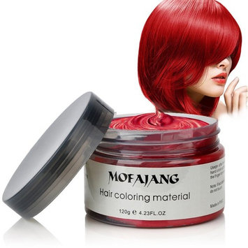 INST Hair Wax Temporary Hair Color Wax 4.23oz MOFAJANG Natural Matte Hairstyle Coloring Easy Operate Free Styles Hair for Men Women and Children,Dye Wax for Party,Masquerade,Nightclub,Cosplay