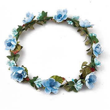 Girl's Floral Crown Headband Hair Flower Wreath Hair Band for Travel Festival Party Wedding