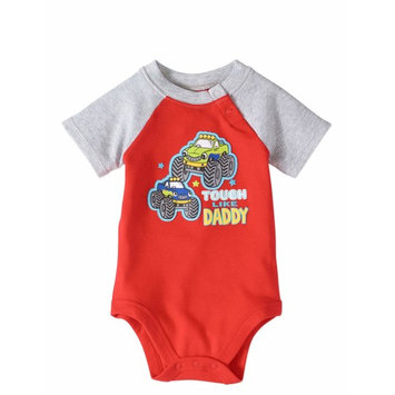 Baby Boy Short Sleeve Graphic Raglan Bodysuit