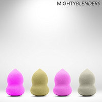 Yphone Bundle Monster 4pc Pro Beauty Flawless Makeup Blender Foundation Puff Multi Shape Sponges (Pack of 4)