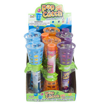 Dollaritemdirect CANDY POP & CATCH WITH LOLLIPOP .39 OZ IN COUNTER DISPLAY, Case Pack of 144