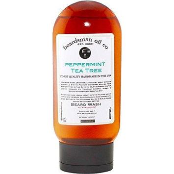 Beardsman Oil Co Beard Shampoo- Peppermint Tea Tree Beard Wash by Beardsman Oil Co