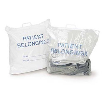 Medegen Medical MAI 70-21 20 x 20 x 4 in. Personal Belongings Bag with Rigid Handle White - 250 per Case