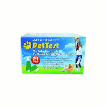 Pharma Supply, Inc. PetTest 21G Safety Lancets (100 Count)