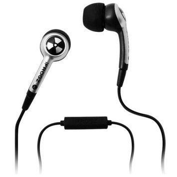 iFrogz EarPollution Plugz Ear Buds with Mic - Silver