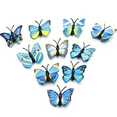 HUELE Blue Butterfly Hair clips Hair Accessories for Photography Wedding ,ect. 10 Pcs