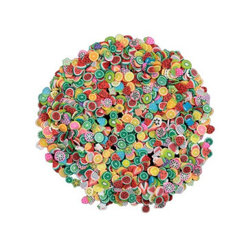 Nail Art Wheel Fimo Polymer Clay 3D Assorted Colorful Stickers