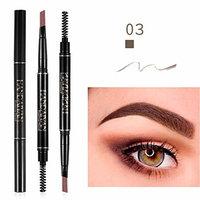 Eyebrow Eyeliner Pencil, Yanvan Double-Head Automatic Rotation Eyebrow Eyeliner Pencil Waterproof Fork tip Eyebrow Tattoo Pen Cosmetics Tools