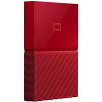 Western Dig Tech. Inc Wd - My Passport 1TB External USB 3.0 Portable Hard Drive - Red