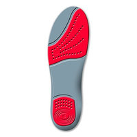 Sorbothane Double Strike Insoles Red/Grey, Size 3-4