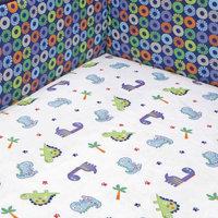Bananafish Little Dino Crib Sheet One Size (White)