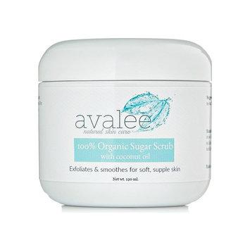 Best Body Scrub for Dry Skin by Avalee Natural Skin Care | Organic Sugar Scrub for Exfoliating & Moisturizing | Exfoliator for Rough Feet