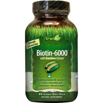 Irwin Naturals Biotin-6000 plus BioPerine Softgels, 60CT