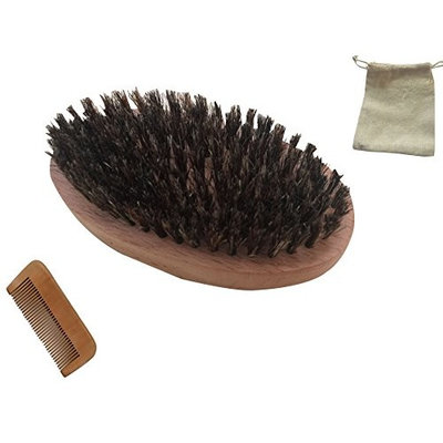Wooden comb and brush set,peach wood comb, cheap price beard combs, square moustache combs, beech wood brush,oval shape beard brush