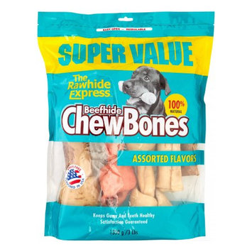The Rawhide Express Assorted Flavor Recipe Chews Dog Treat, 3 Lb