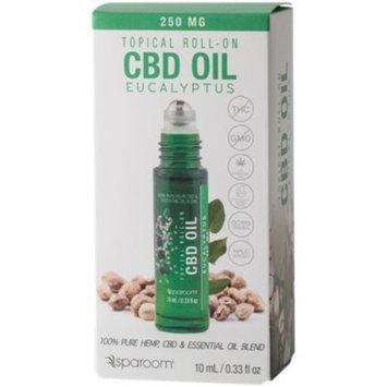 CBD Essential Oil Roll On - EUCALYPTUS (0.33 Fluid Ounces Oil) by SpaRoom