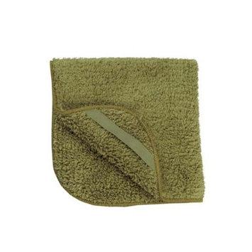 Appearus Plush Microfiber Face Wash Cloth 12x12 (Olive Green/BT6011O)
