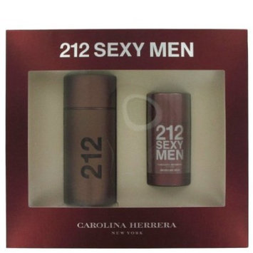 212 Sexy by Carolina Herrera Gift Set -- 3.4 oz / 100 ml Eau De Toilette Spray + 2.6 oz Deodorant Stick for Men...