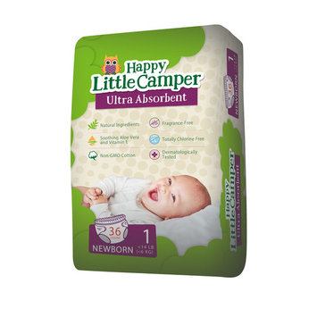 Happy Little Camper Natural Diapers, Size 1, 36 Diapers