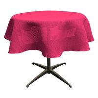 LA Linen TCBurlap58R-Fuschia Dyed Natural Burlap Tablecloth Fuchsia - 58 in. Round