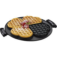 George Foreman 2 Removable Nonstick Heart-Shaped Waffle Plates for the Grill